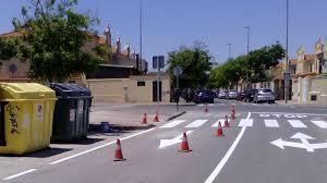 Comienza en la avenida Blas Infante un plan para mejorar la seguridad vial